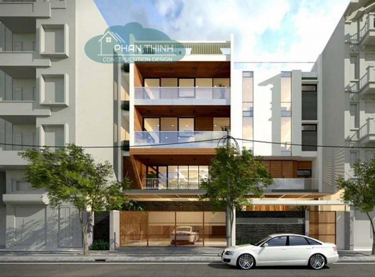 Mẫu thiết kế nhà phố 4 tầng Quảng Ninh