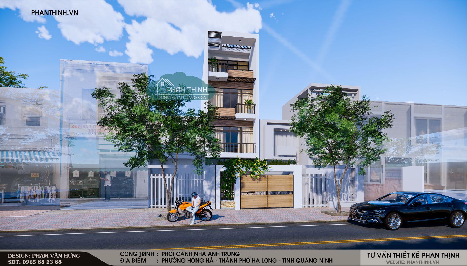thiết kế nhà phố quảng ninh