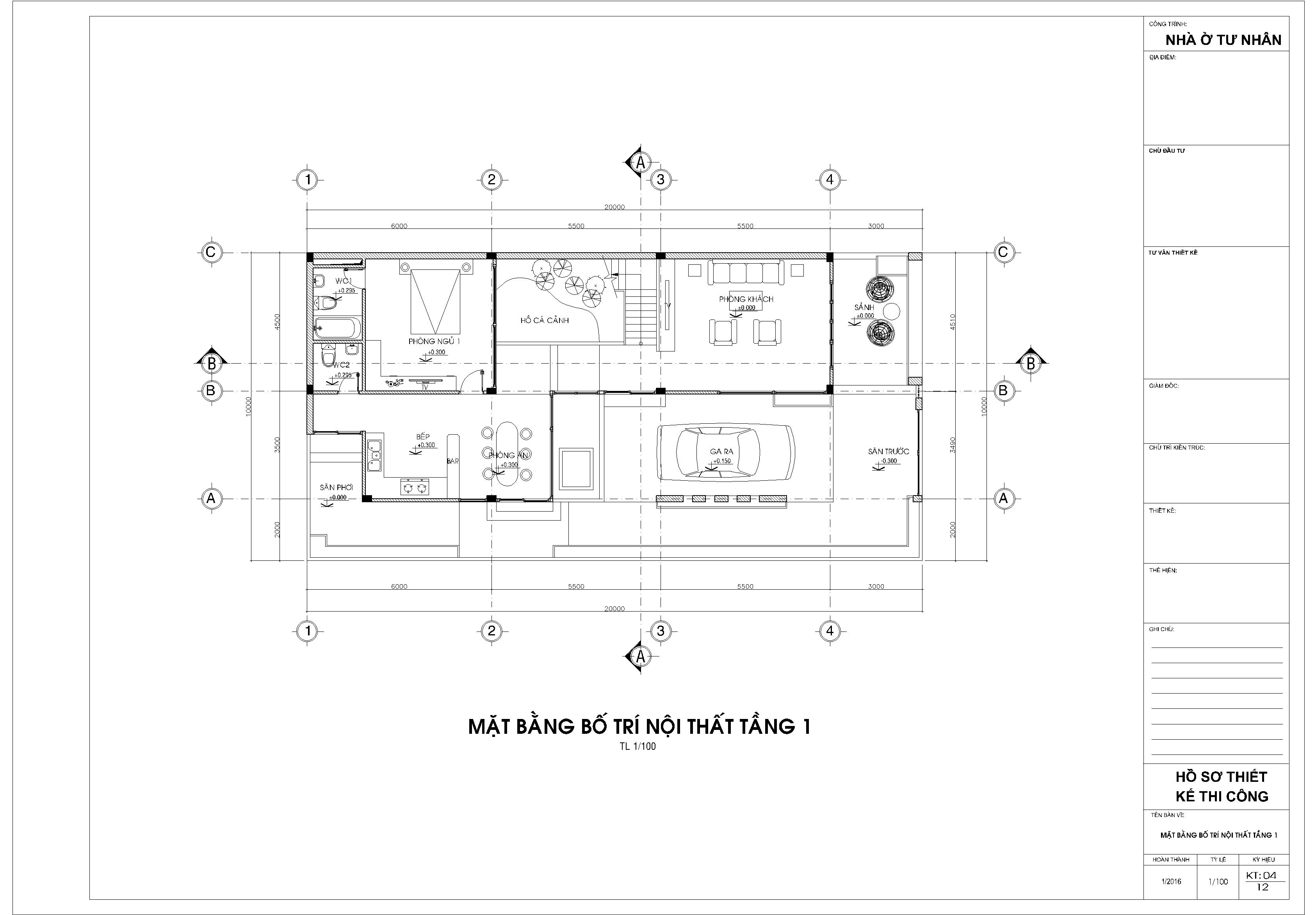 tư vấn thiết kế nhà phố 2 tầng quảng ninh