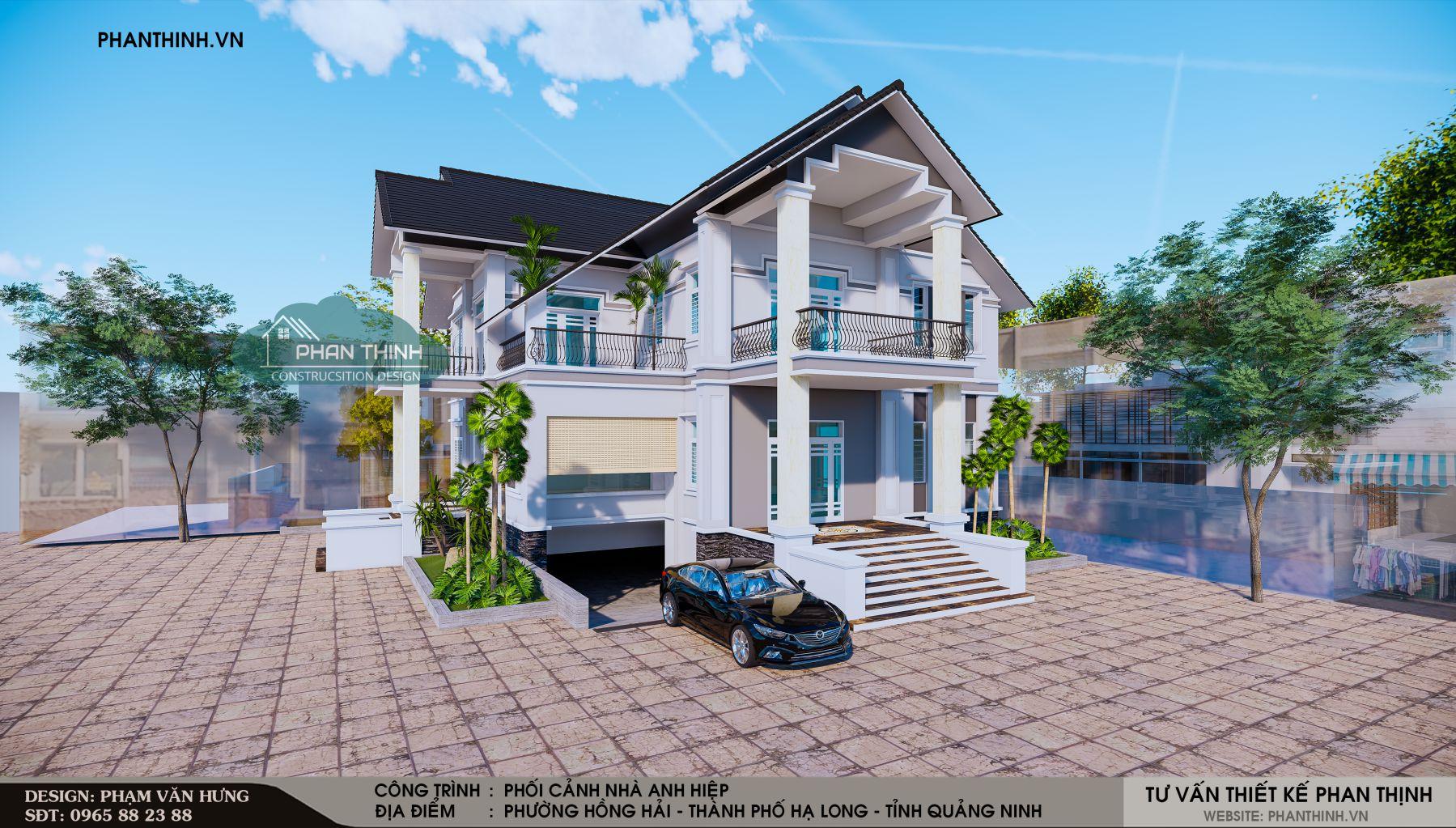 thiết kế nhà biệt thự tại Quảng Ninh