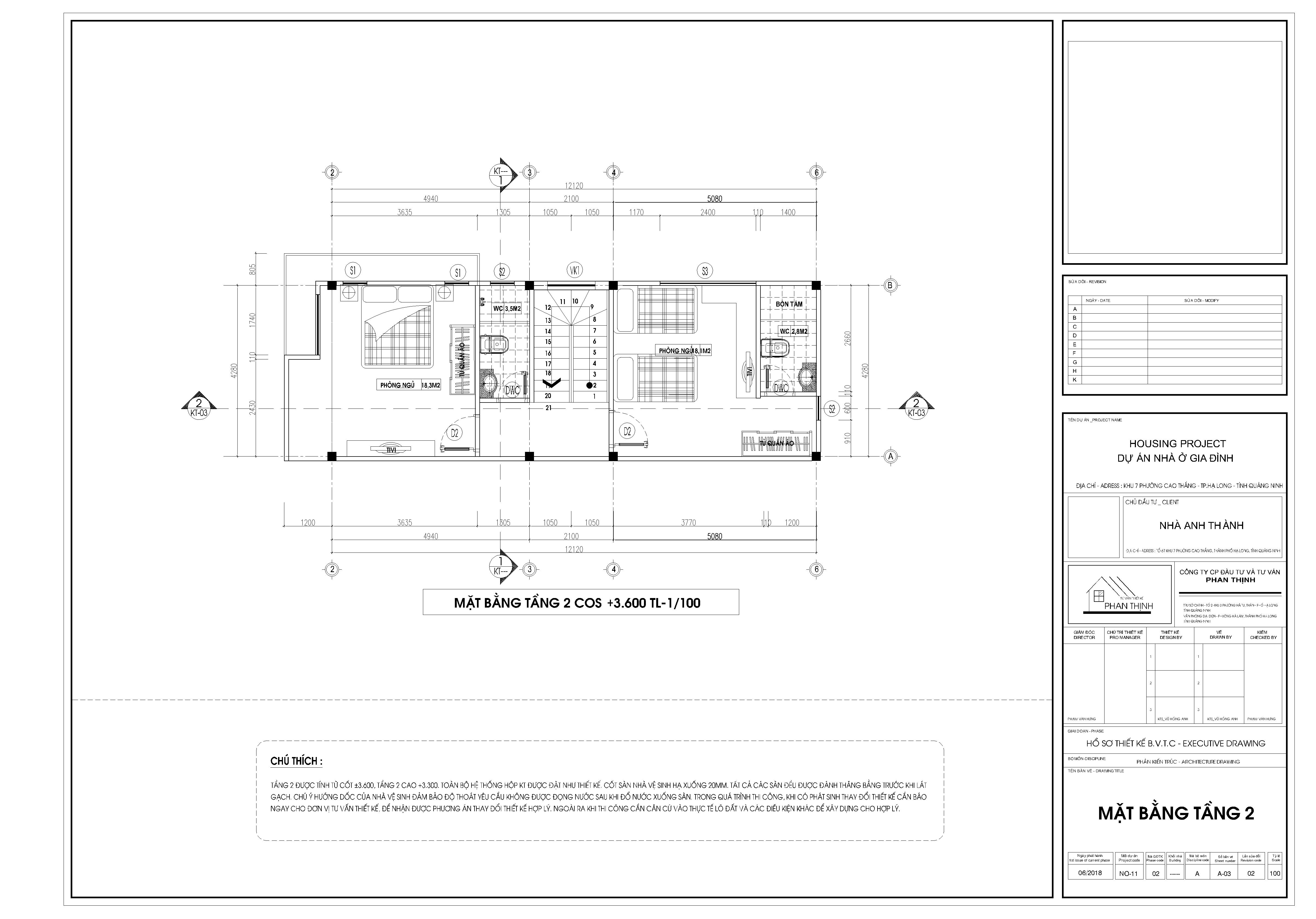 Thiết kế nhà ống 3 tầng tại Quảng Ninh