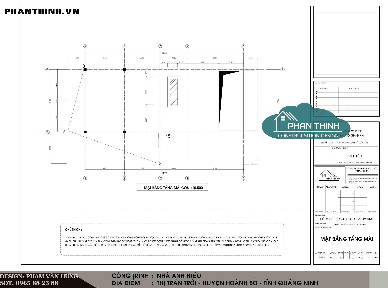 thiết kế nhà 2 tầng 1 tum