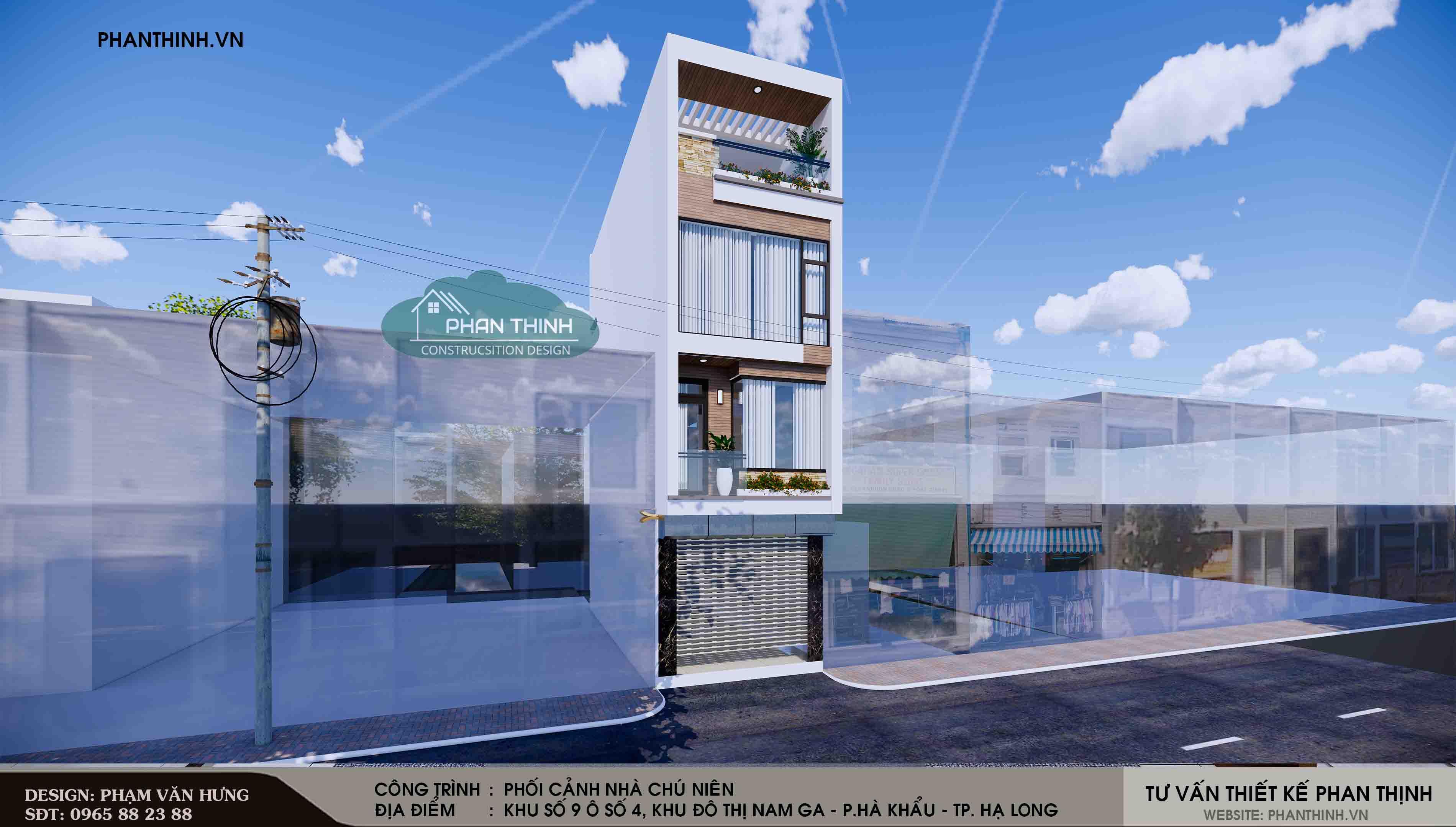 thiết kế nhà phố 4 tầng hiện đại tại quảng ninh