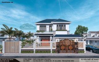 Thiết kế nhà biệt thự 2 tầng, chú Năm, khu đồi T5, Hồng Hà, Hạ Long