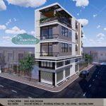 Mẫu thiết kế nhà phố 4 tầng 2 mặt tiền đẹp , BigC, Hạ Long, Quảng Ninh