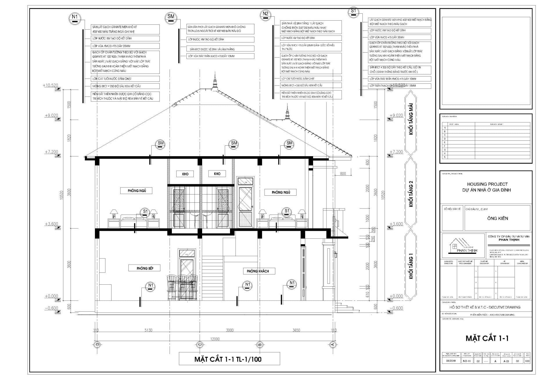 thiết kế nhà biệt thự 2 tầng tại Quảng Ninh