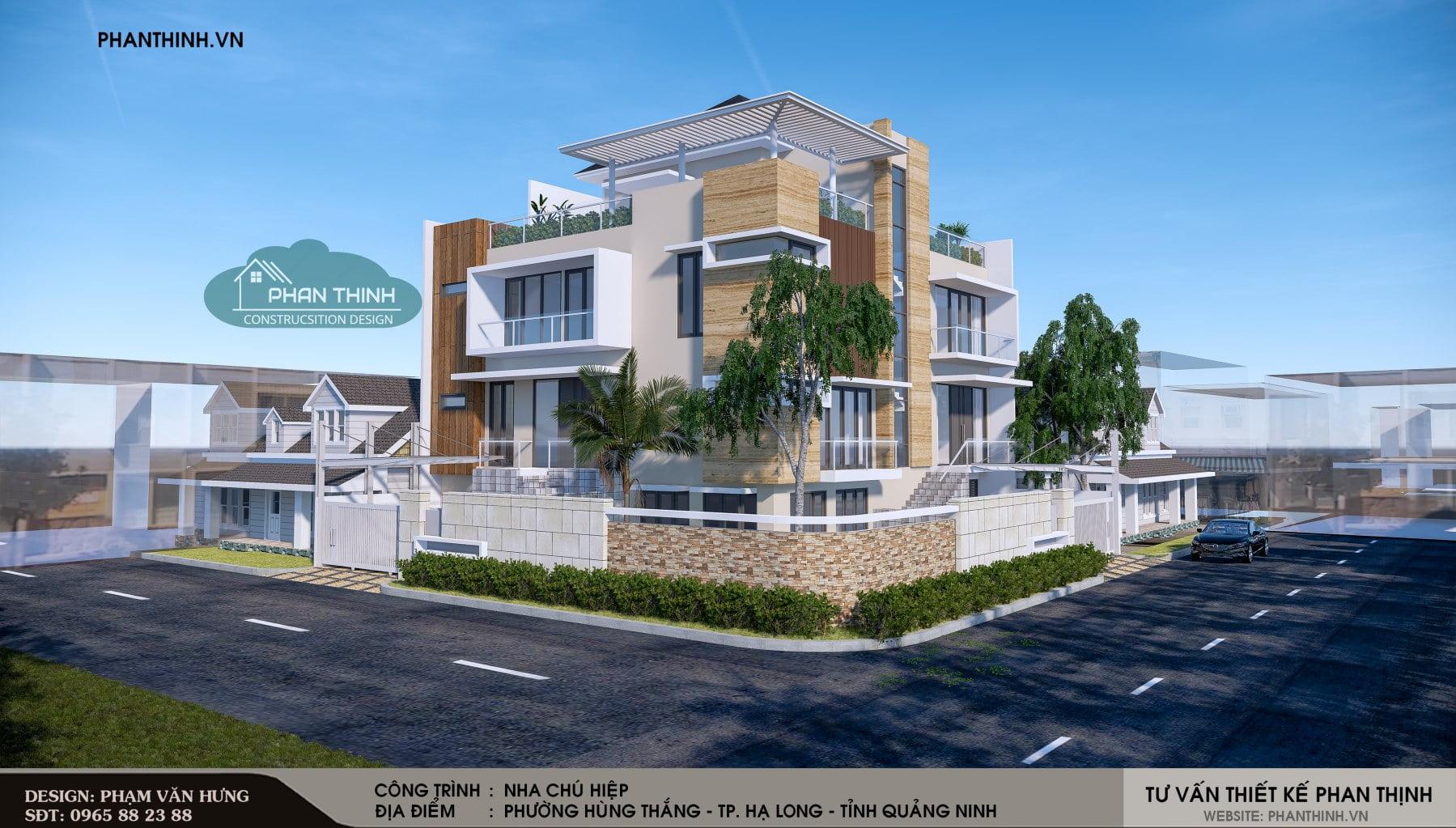 Phối cảnh thiết kế nhà tại Hạ Long Quảng Ninh