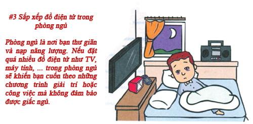 Bố trí đồ điện tử trong phòng ngủ