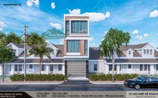 Thiết kế nhà 3 tầng hiện đại tại Quảng Ninh, chú Liêm phường Hà Khẩu