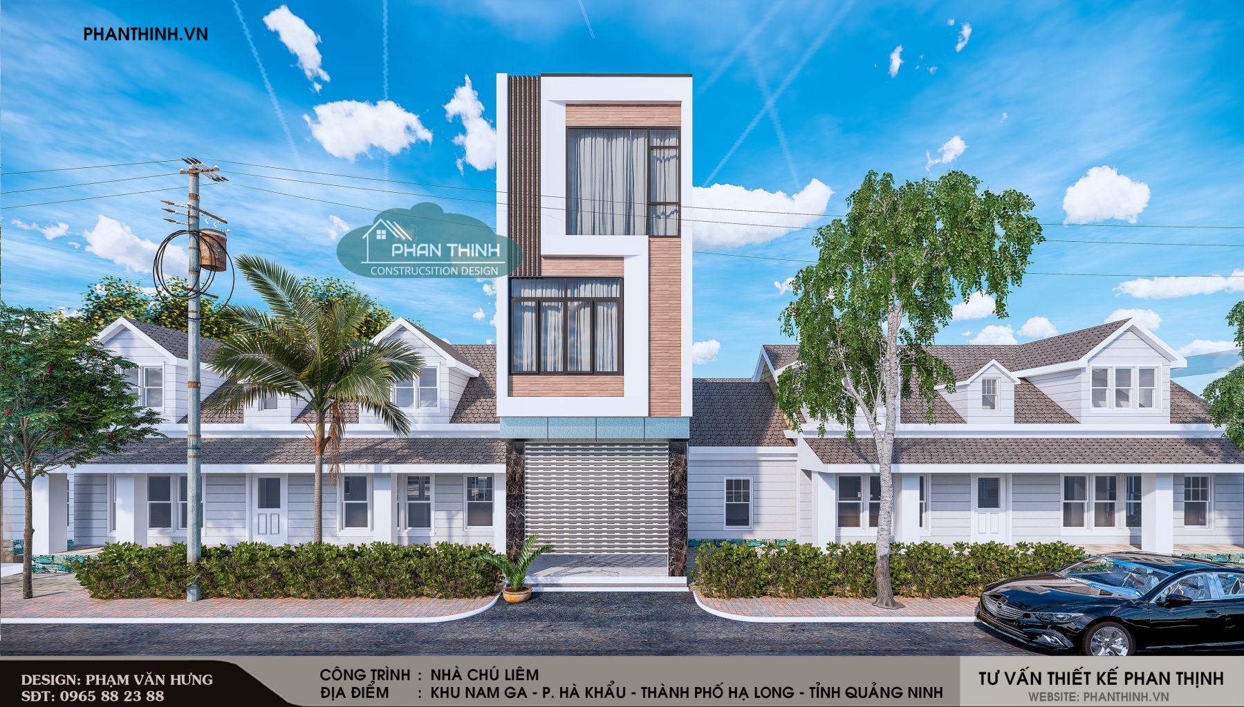 căn nhà phố 3 tầng mặt tiền 4m hiện đại tại Quảng Ninh