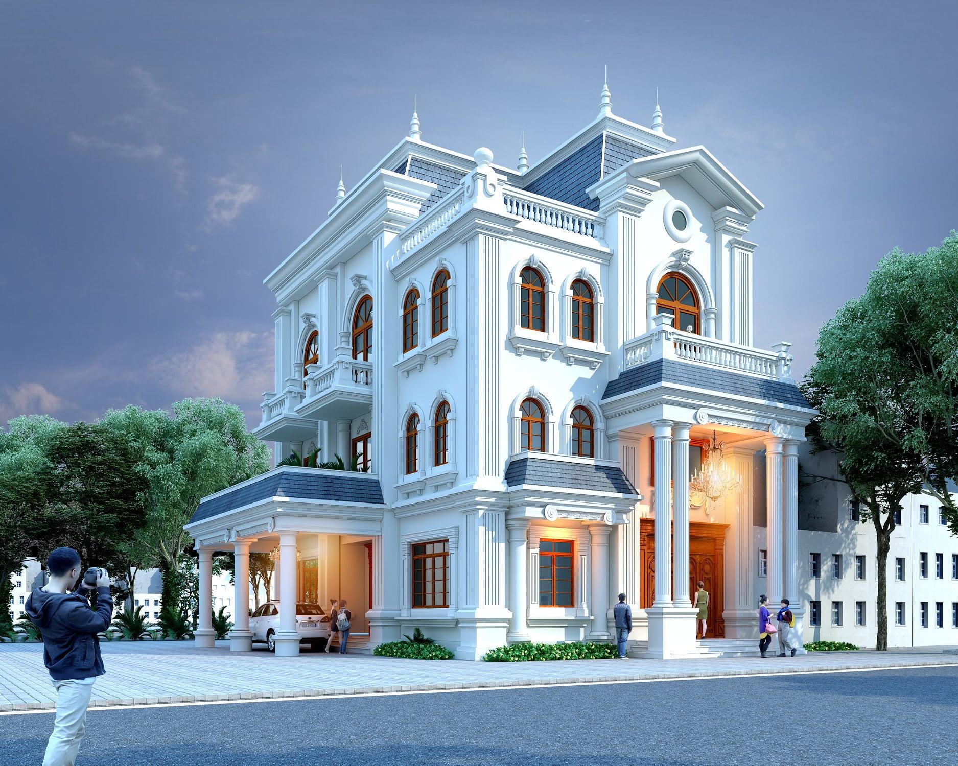 Nhà phố tân cổ điển ở Quảng Ninh