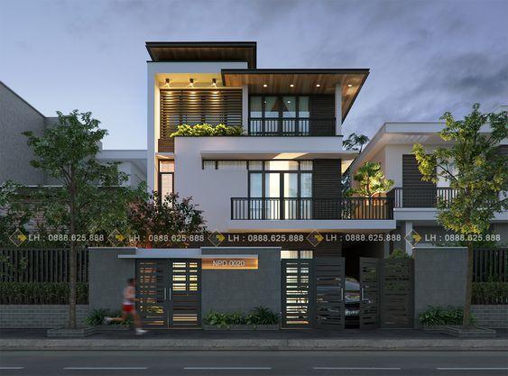 Thiết kế nhà đẹp ở Quảng Ninh, nhà biệt thự 3 tầng đẹp