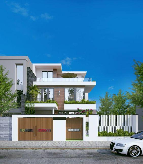 Mẫu nhà biệt thự 3 tầng hiện đại ở Quảng Ninh, thiết kế nhà Quảng Ninh