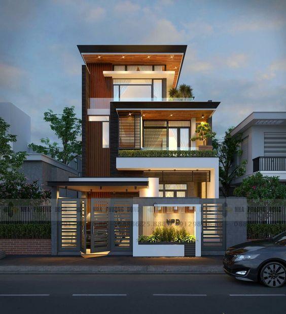 mẫu nhà biệt thự 3 tầng tại Quảng Ninh, tư vấn thiết kế Phan Thịnh