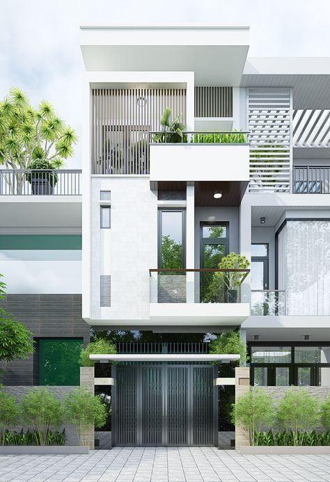 Mẫu nhà hiện đại 3 tầng tại Quảng Ninh