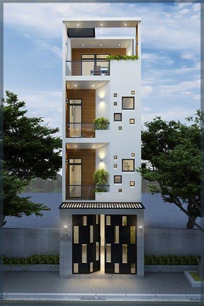nhà đẹp hiện đại 4 tầng tại Quảng Ninh, tư vấn thiết kế Phan Thịnh