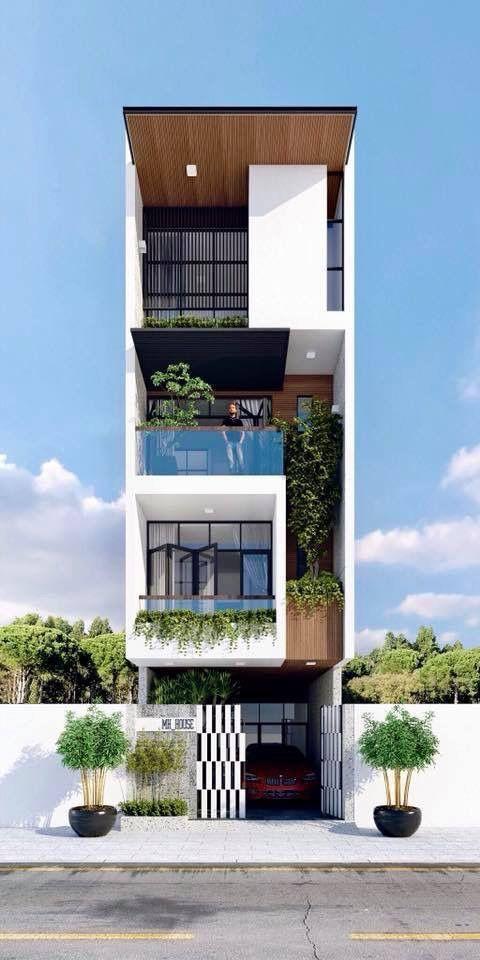 Thiết kế nhà 4 tầng phong cách hiện đại tại Quảng Ninh