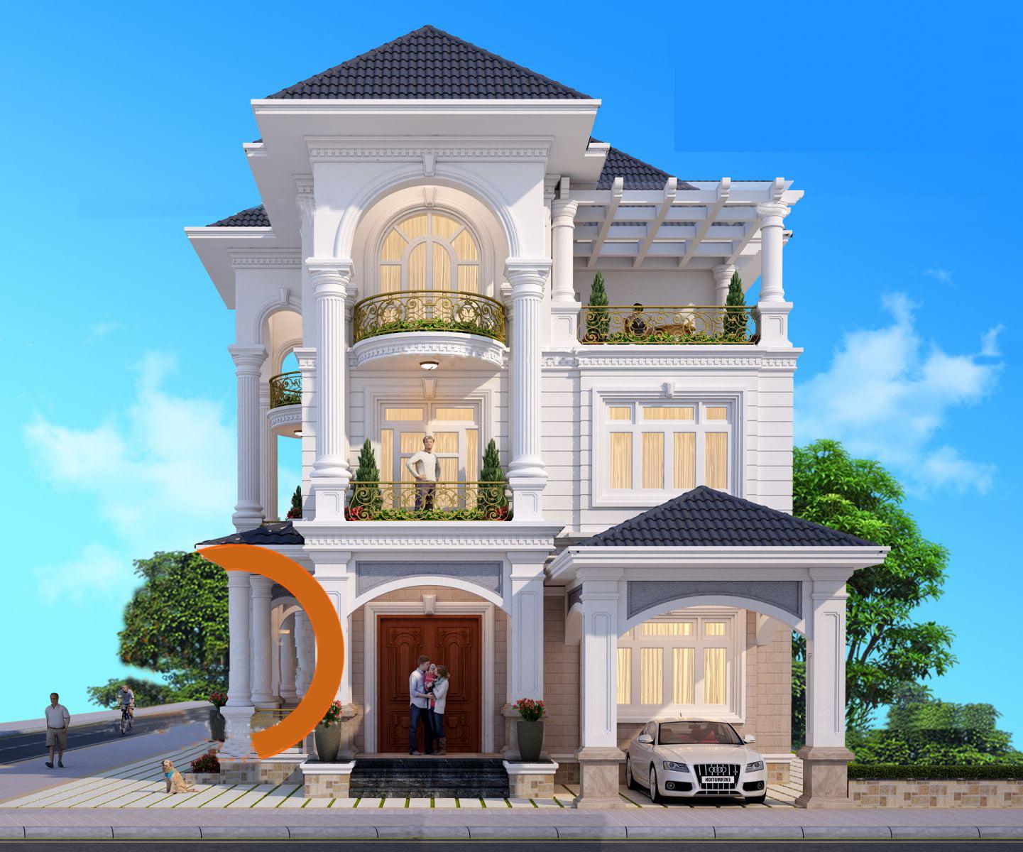 Biệt thự 3 tầng hiện đại ở Quảng Ninh, thiết kế nhà Phan Thịnh