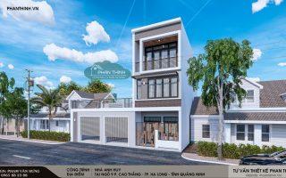 Nhà phố 3 tầng đẹp ở quảng ninh , anh Huy phường Cao Thắng