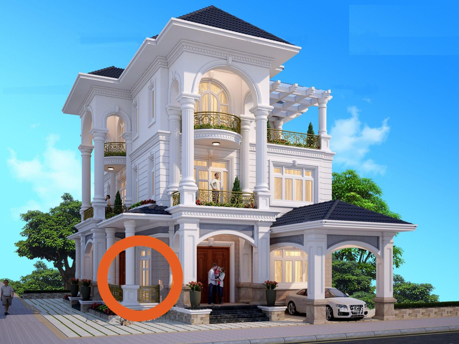 Thiết kế nhà biệt thự đẹp 3 tầng tại Quảng Ninh