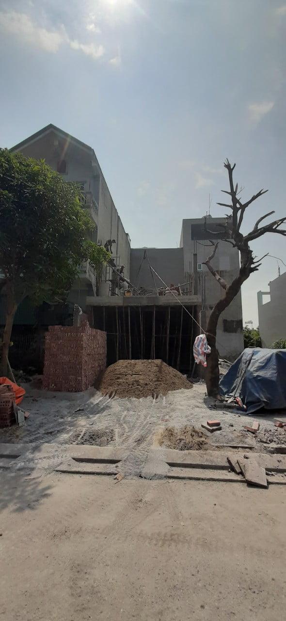 Hình ảnh quá trình thi công căn nhà 4 tầng tân cổ điển tại khu vực Hà Khánh A