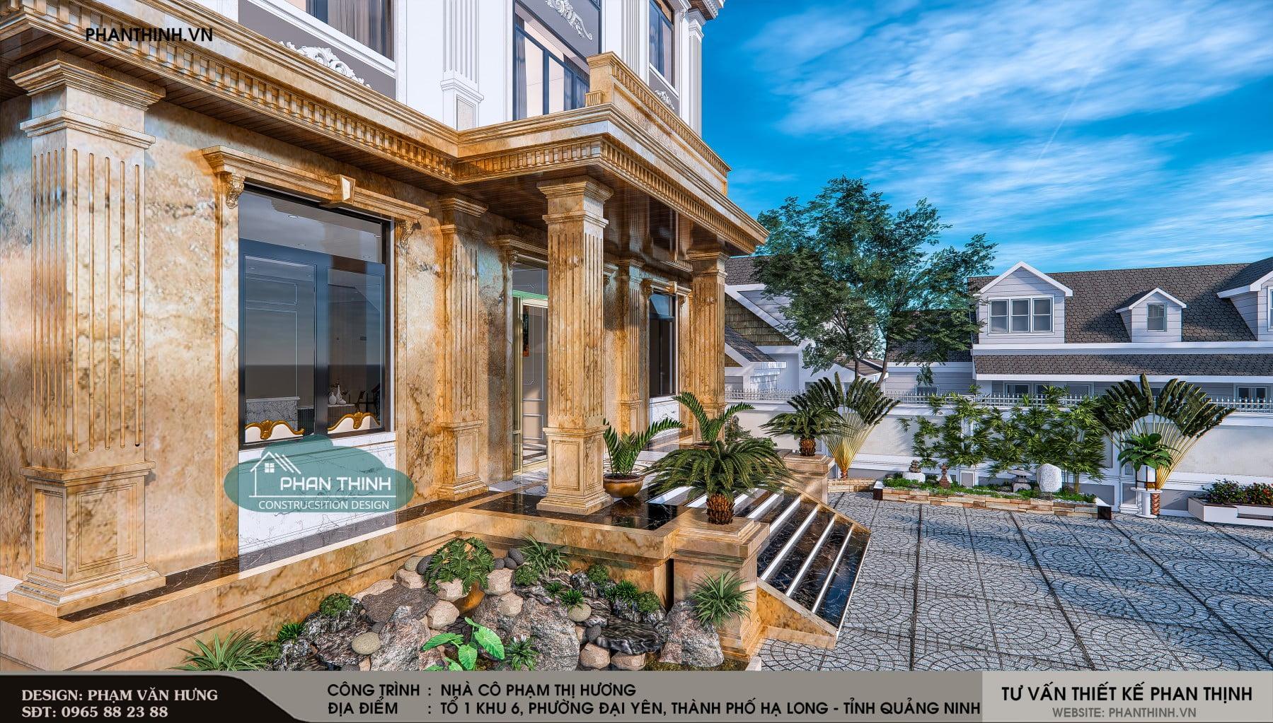 Sảnh chính của ngôi nhà được thiết kế nhiều tiểu cảnh trang trí đẹp mắt.