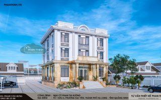 Thiết kế nhà tân cổ điển quảng ninh, 3 tầng 14x15m tại phường Đại Yên