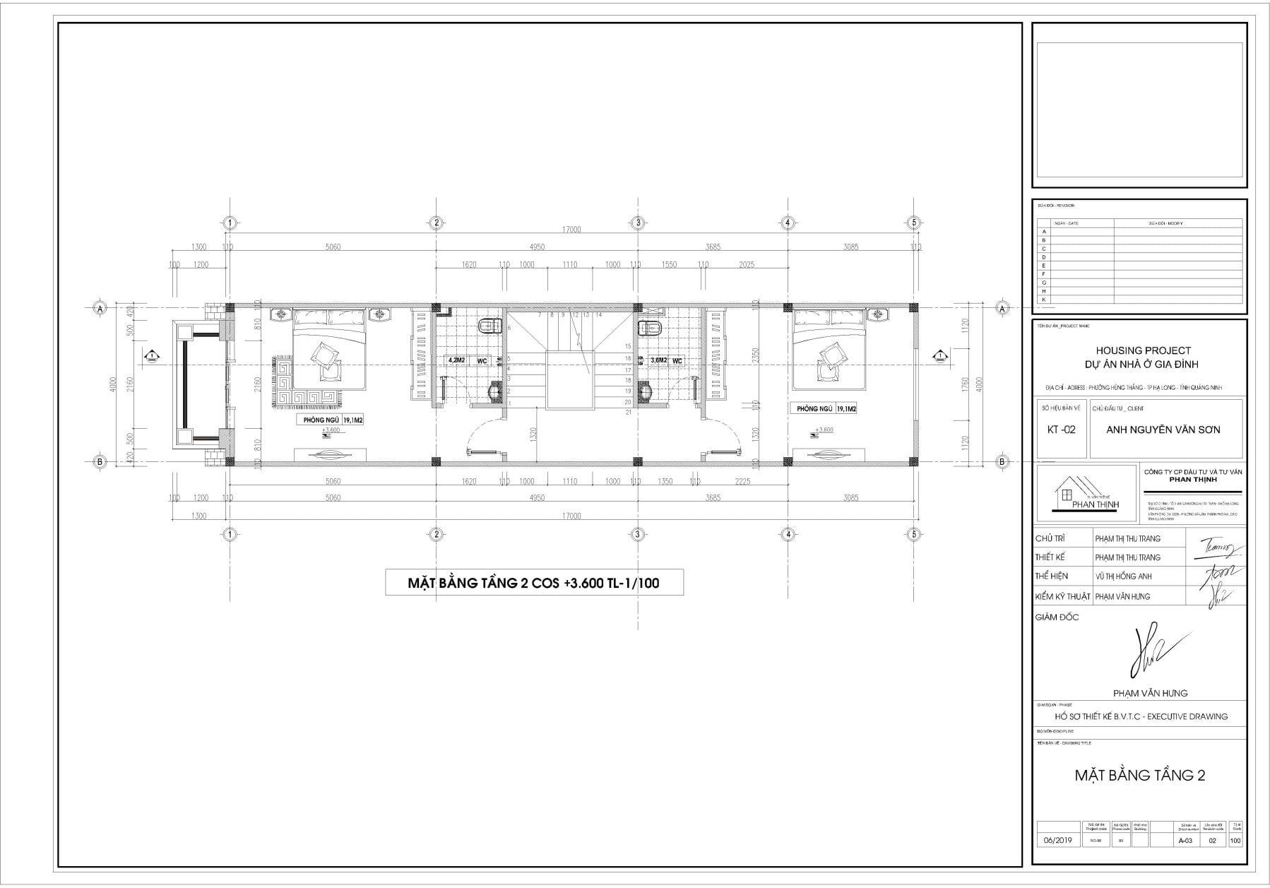 Thiết kế nhà tại tầng 2 Quảng Ninh