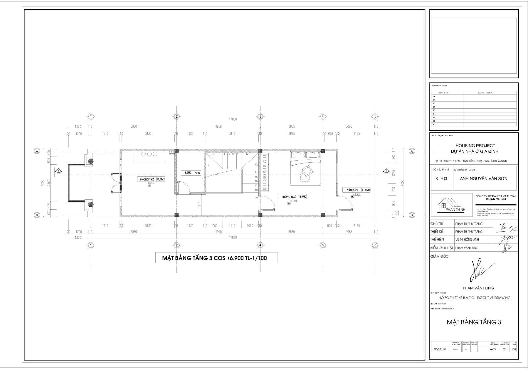 Thiết kế nhà tại tầng 3 Quảng Ninh