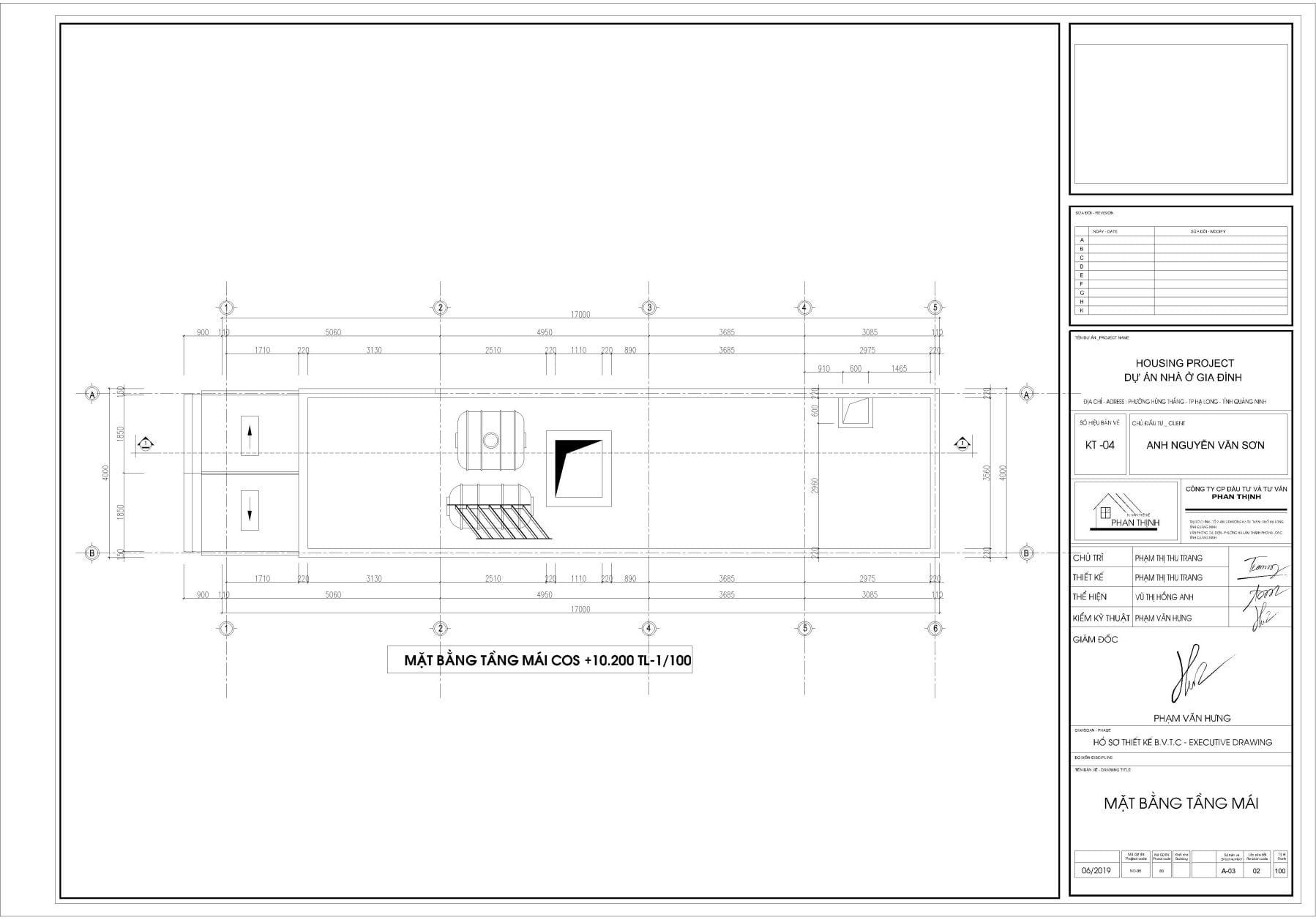 Thiết kế nhà tại tầng mái Quảng Ninh