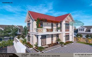 Thiết kế nhà mái thái 2 tầng tại thành phố Hạ Long tỉnh Quảng Ninh