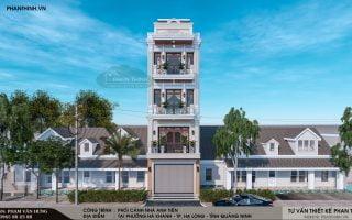 Thiết kế xây dựng nhà ở 4 tầng mang phong cách tân cổ điển Quảng Ninh