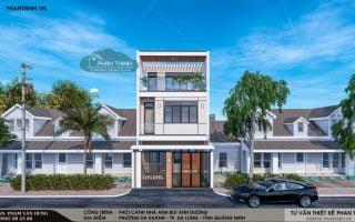 Thiết kế xây dựng nhà 3 tầng hiện đại tại phường Hà Khánh, Hạ Long