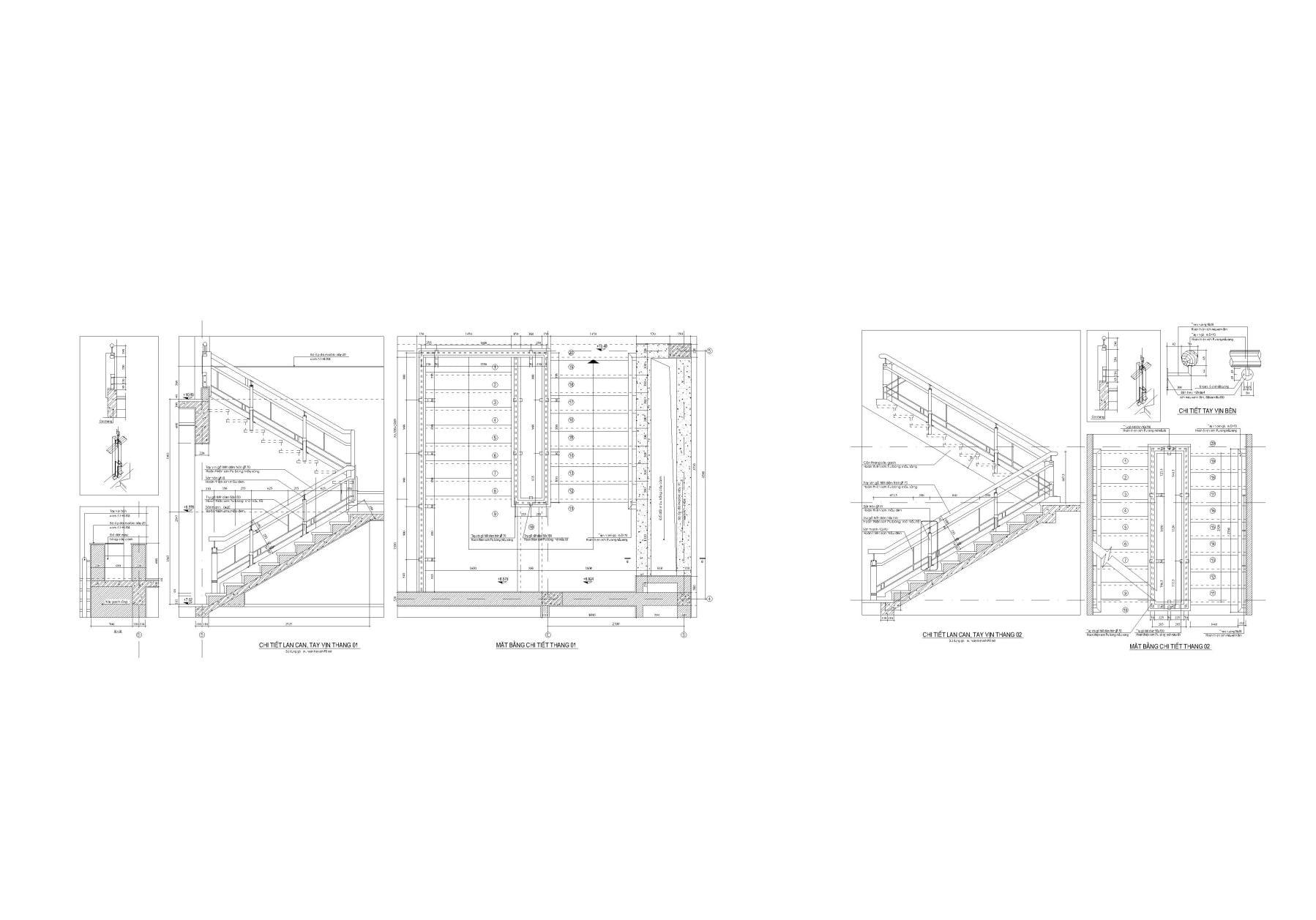 Thư viên cầu thang autocad số 02