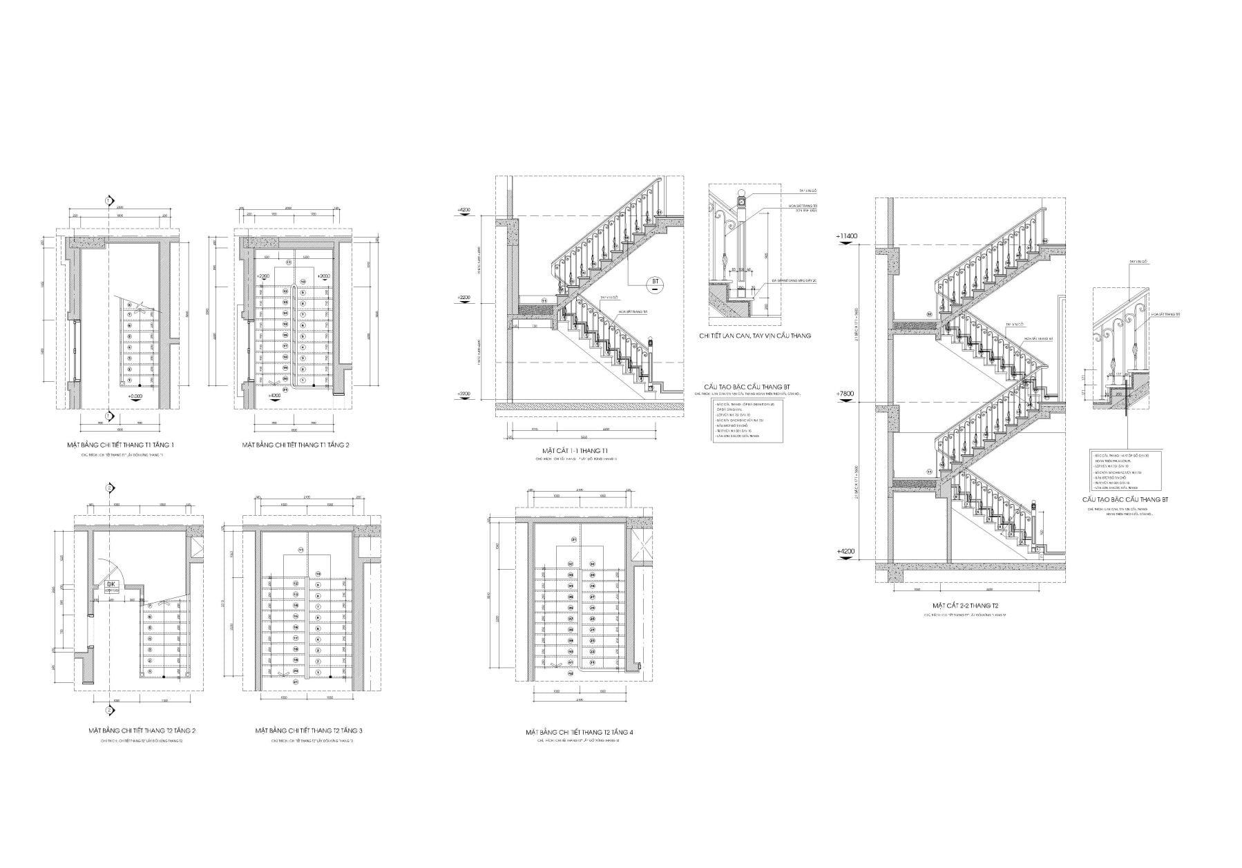 Bản vẽ thư viện cầu thang đẹp phần mềm autocad
