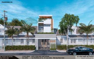 Thiết kế xây dựng tại Quảng Ninh, thiết kế nhà 2 tầng 1 tum phong cách hiện đại