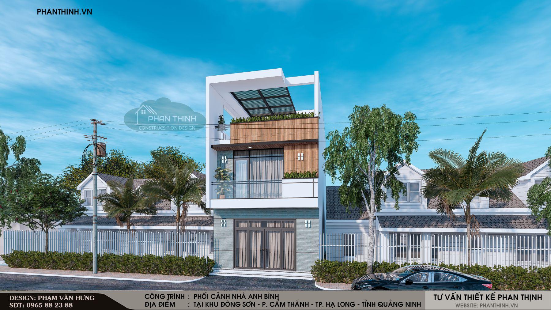 Mẫu nhà 2 tầng 1 tum đẹp tại Quảng Ninh năm 2019