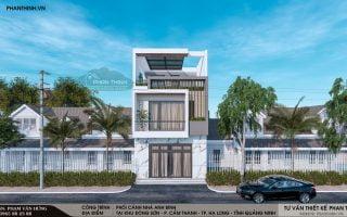 Thiết kế xây dựng nhà 2 tầng 1 tum tại Quảng Ninh, nhà 6×13,5m hiện đại