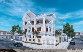 Thiết kế biệt thự 3 tầng tân cổ điển đẹp tại Quảng Ninh