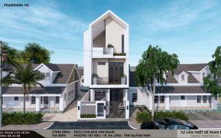 Thiết kế xây dựng nhà phố hiện đại Quảng Ninh, nhà phố 3 tầng