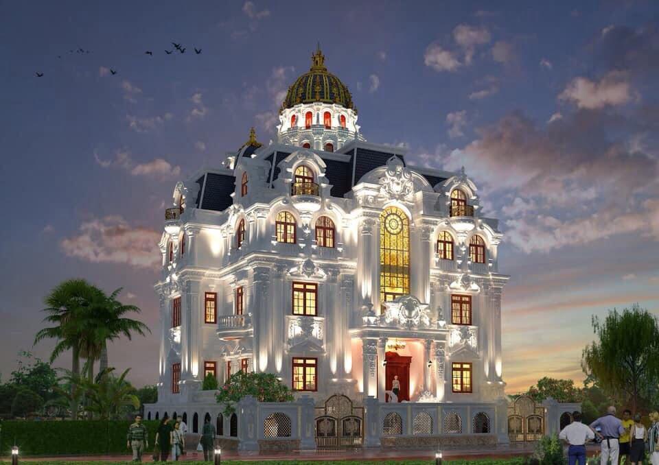 Thiết kế biệt thự cổ điển đẹp phong cách châu âu tại Quảng Ninh