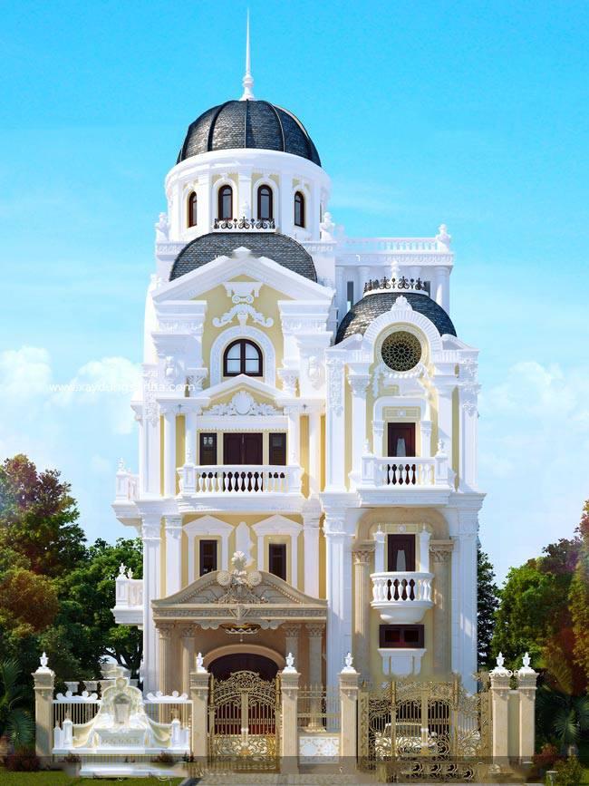 Biệt thự sang trọng 3 tầng cổ điển thiết kế phong cách châu âu tại Quảng Ninh