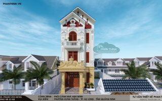 Thiết kế xây dựng biệt thự 3 tầng cổ điển tại Quảng Ninh