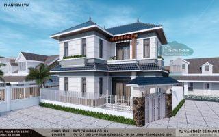 Thiết kế xây dựng nhà mái thái 2 tầng tại phường Trần Hưng Đạo