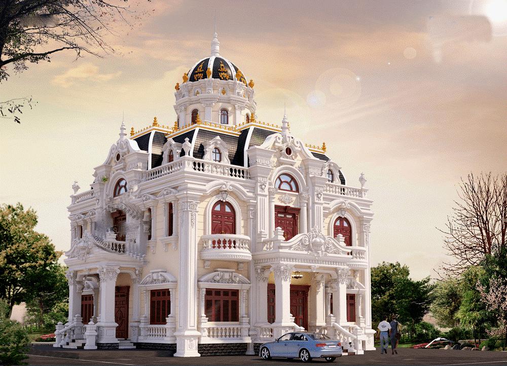 Mẫu biệt thự đẹp tại Quảng Ninh, phong cách châu âu cổ điển