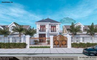Thiết kế xây dựng nhà ở 2 tầng tại phường Bãi Cháy tỉnh Quảng Ninh