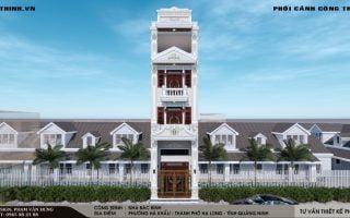 Thiết kế nhà phố 4 tầng cổ điển tại phường Hà Khẩu Hạ Long Quảng Ninh