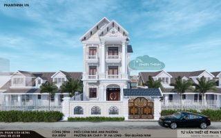 Thiết kế biệt thự cổ điển 3 tầng đẹp tại Hạ Long Quảng Ninh