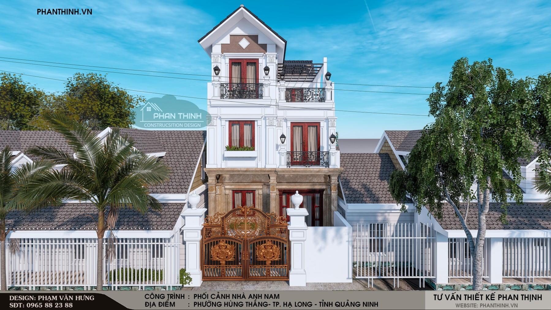Thiết kế biệt thự cổ điển tại Quảng Ninh