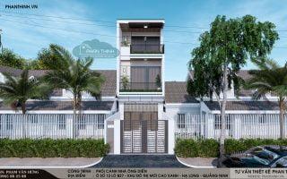 Thiết kế nhà ở Quảng Ninh, mẫu nhà phố 3 tầng đẹp hiện đại tại Hà Khánh